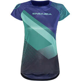 Endura SingleTrack Print II LTD Short Sleeve Jersey Women cobaltblue
